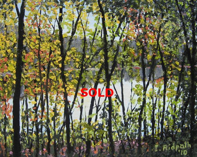 Glimpse of the River oil painting image
