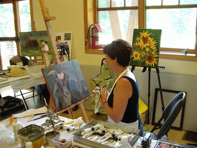 susan strickland at work at mountsberg